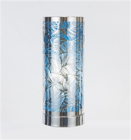 Silver & Blue Touch Sensitive Aroma Lamp 26cm