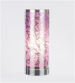 Silver & Purple Touch Sensitive Aroma Lamp 26cm