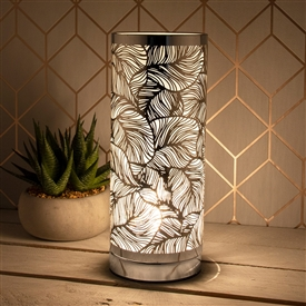 Silver & White Touch Sensitive Aroma Lamp 26cm