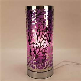 Touch Sensitive Raindrop Aroma Lamp - Silver/Purple