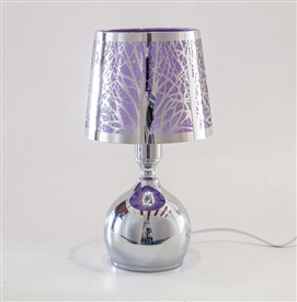 Silver & Purple Touch Sensitive Aroma Lampshade 27cm