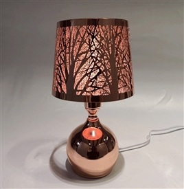 Silver Touch Sensitive Aroma Lampshade 27cm