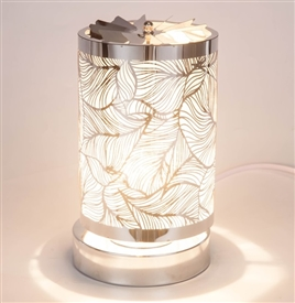 SPINNING Touch Sensitive Aroma Lamp - White Leaf