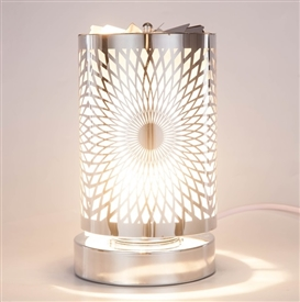 SPINNING Touch Sensitive Aroma Lamp - White Spiral