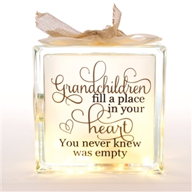 Grand Children LED Glass Block 19cm