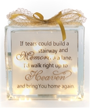 LED Glass Block Stairway And Memories  19cm