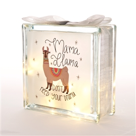 Mama Llama  LED Glass Block