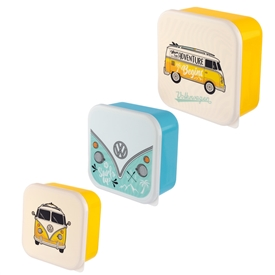 Set Of 3 Volkswagen Lunch Boxes
