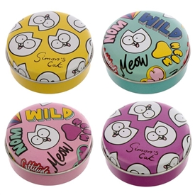 Simons Cat Lip Balm Tin 4 Assorted 5cm