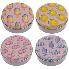 Game Over Lip Balm Tin 4 Assorted 5cm