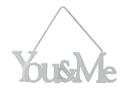 Hanging You & Me Plaque