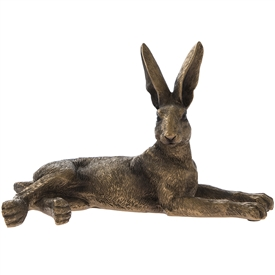 Reflections Bronzed Lying Hare Ornament