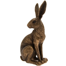 Reflections Bronzed Sitting Hare Ornament
