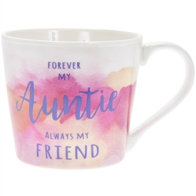 Forever My Auntie Watercolour Mug