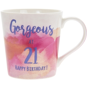 Happy 21st Birthday Watercolour Mug