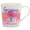Happy 30th Birthday Watercolour Mug