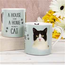 House Not Home Mug � Black And White Cat (TEMP IMAGE OF SAMPLE PRODUCT)