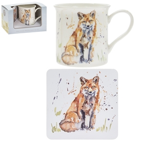 Country Life Fox Mug And Coaster Set