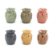 Floral Oil Burner  6 Assorted 8cm