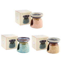 Ceramic Oil Burner with Butterfly Design 3 Assorted