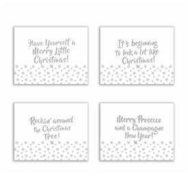 SPECIAL OFFER (WAS £7.50) Set Of 4 Silver Christmas Placemats
