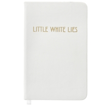 Little White Lies White Notebook A6