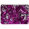 Sequin Hand Clutch/ Pouch Pink And Silver