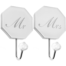 REDUCED Mr And Mrs Wall Hook Set