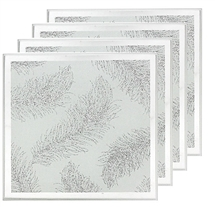 Mirror Feather Set Of 4 Coasters