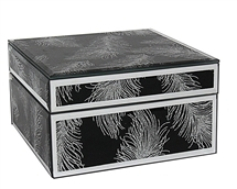 Black Mirror Jewellery Box 14cm