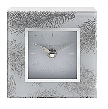 Mirror Feather Clock 12cm