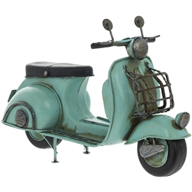 Vintage Tin Blue Scooter