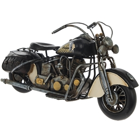 Black Vintage Motorbike Ornament