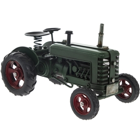 Green Metal Vintage Tractor Ornament