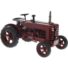 Red Metal Vintage Tractor Ornament