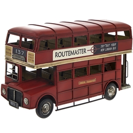 Large Vintage London Bus in Ornament 33cm