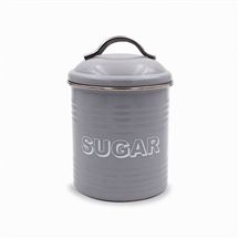 Home Sweet Home Gray Sugar Canister