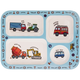 Little Stars Vehicle Plastic Food Tray
