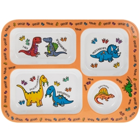 Little Stars Dinosaur Plastic Food Tray