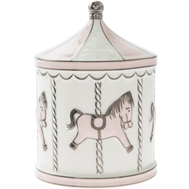 Pink Carousel Money Box