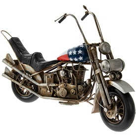 Metal Harley Motorbike Ornament