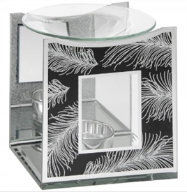 Black Mirror Feather Oil Burner