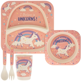 Bamboo Eating Set Unicorn