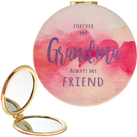 Forever My Grandma Watercolour Compact Mirror 8cm