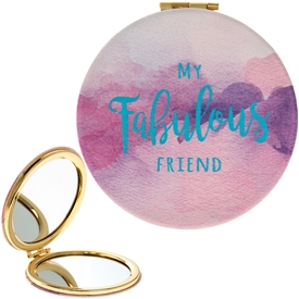 Fabulous Friend Watercolour Compact Mirror 8cm