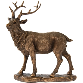 Reflections Bronzed Standing Stag Ornament