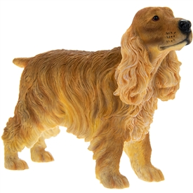 Brown Cocker Spaniel Dog Figurine 13cm
