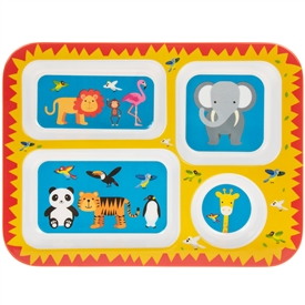 Little Stars Zoo Themed Food Tray