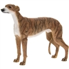 Brindle Standing Greyhound Dog Ornament