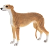Standing Tan And White Greyhound Dog Ornament